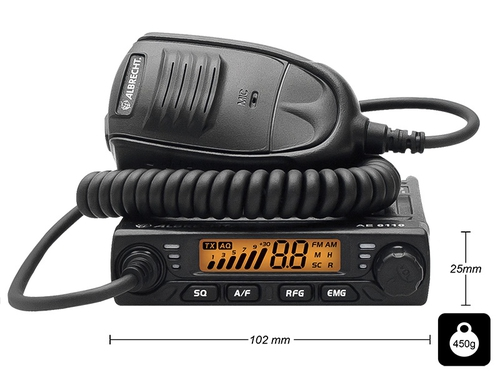 BLOW RADIO CB ALBRECHT AE-6110 MINI AM/FM/ASQ - 24-261#