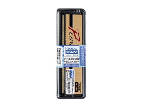 Pamięć RAM Goodram DDR3 Play 8192MB PC1866 2x4GB GOLD CL9 512x8 - GYG1866D364L9AS/8GDC