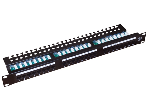 ALANTEC Patch panel UTP 24 porty LSA kat.5e z półką - PK013