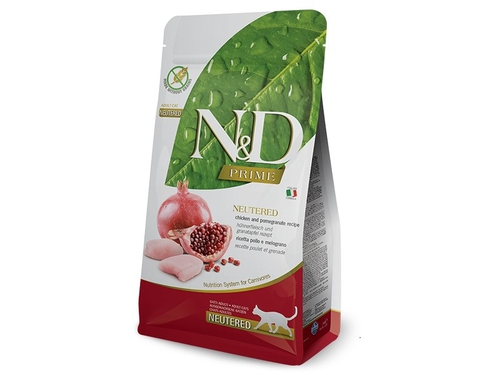 FARMINA N&D PRIME CAT NEUTERED CHICKEN & POMEGRANAT - PND0500018
