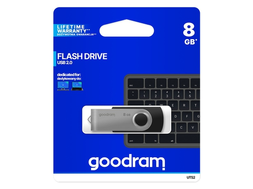 Pendrive Goodram Twister USB 2.0 czarny 8GB - UTS2-0080K0R11