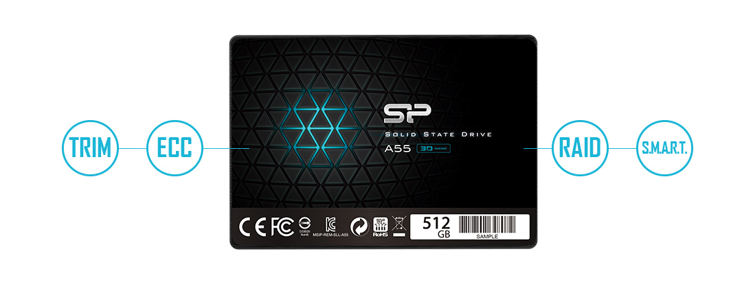 "#SSD Silicon Power A55 128GB 2.5"" SATA3 3D NAND 7mm"