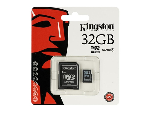 Karta pamięci MicroSDHC Kingston 32GB Class 4 SDC4/32GB