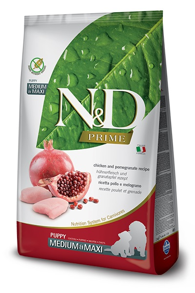 #FARMINA N&D PRIME DOG CHICKEN AND POMEGRANATE PUPPY MEDIUM & MAXI - sucha karma dla psa - 12kg