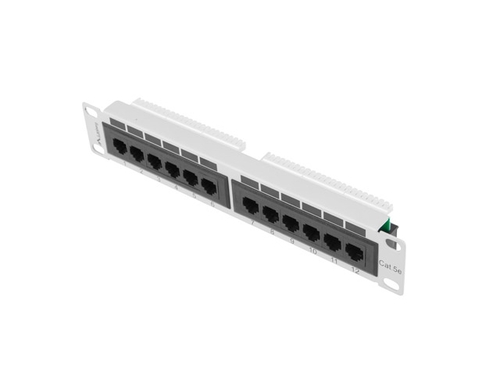 "LANBERG PATCH PANEL 10"" (12 PORT, 1U, KAT.5E UTP) - PPU5-9012-S"