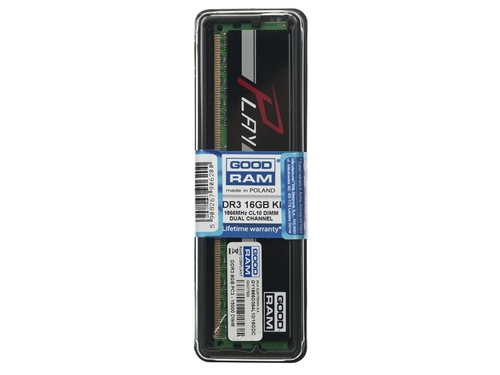 Pamięć RAM Goodram DDR3 PLAY 16GB PC1866 2x8GB BLACK CL10 - GY1866D364L10/16GDC