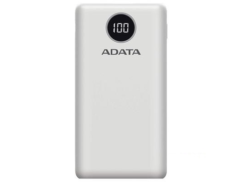 ADATA POWERBANK P20000QCD WHITE - AP20000QCD-DGT-CWH