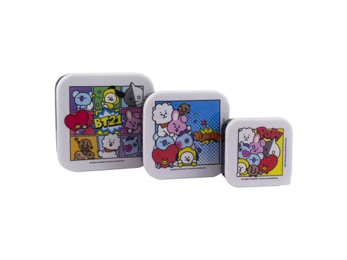 PP BT21 3 SNACK BOXES SET - PP6210BT