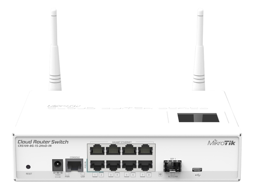 MikroTik CRS109-8G-1S-2HnD-IN SWITCH 8xGLAN N300