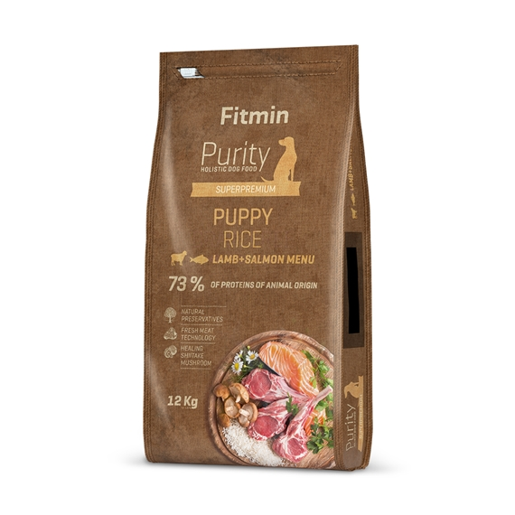 FITMIN Purity dog Rice Puppy Lamb & Salmon 12 kg1