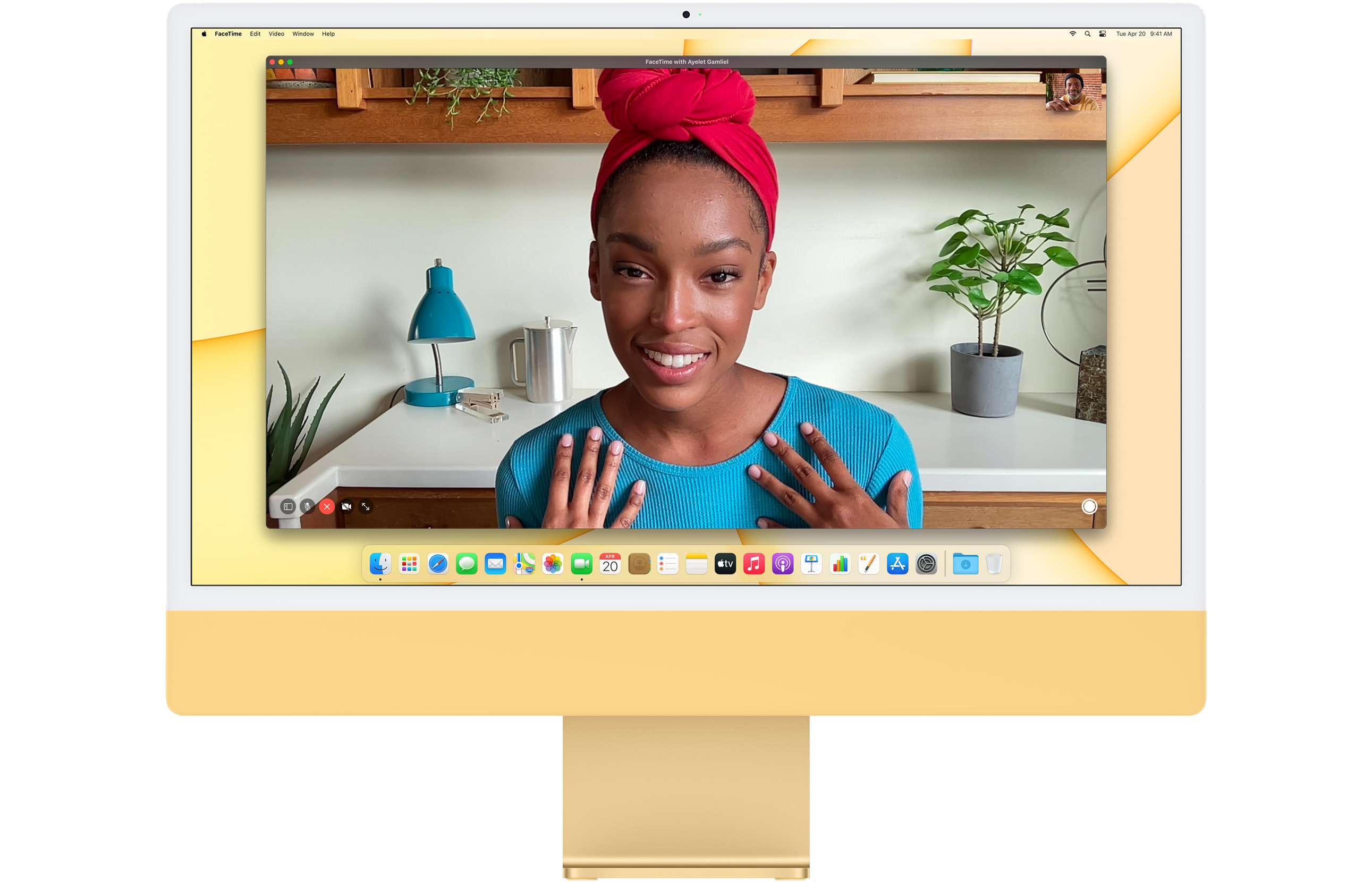 #Apple 24-inch iMac with Retina 4.5K display: Apple M1chip with 8-core CPU and 8-core GPU, 512GB - Pink
