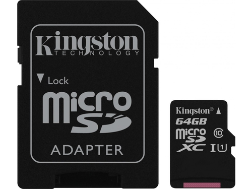 Karta pamięci z adapterem MicroSDXC Kingston Gold 64GB Class U3 SDCG/64GB