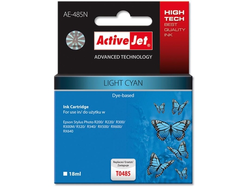 Activejet tusz Eps T0485 R200/R300 Light Cyan