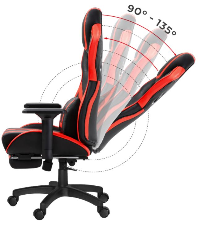 Fotel gamingowy HZ-Force 7.5 Red8