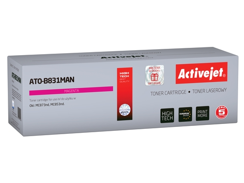 Activejet toner do OKI 45862815 reg ATO-B831MAN Refurbished / Odnowiony