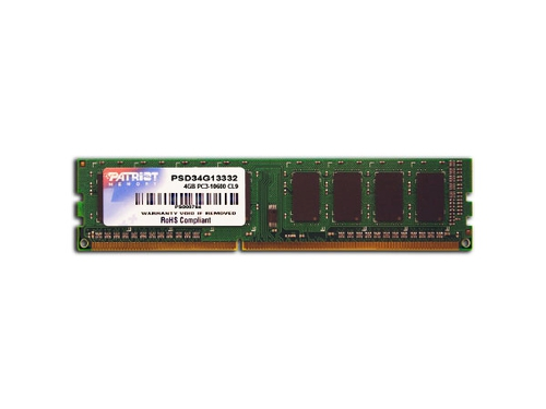 Patriot 4GB 1333MHz DDR3 Non-ECC CL9 DIMM - PSD34G13332