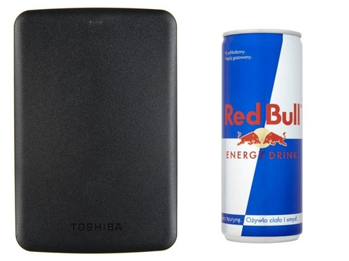 "TOSHIBA HDD STOR.E CANVIO BASICS 2.5"" 500GB BLACK + RED BULL - HDTB305EK3AA"