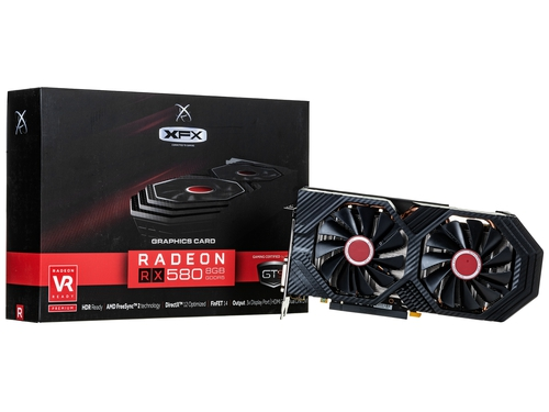 Karta graficzna XFX Radeon RX 580 RX 580 RX-580P8DFD6 AMD Virtual Super Resolution AMD XConnect Technologia AMD LiquidVR Radeon Chill DirectX 12 8GB DDR5 8000 / 8100 MHz 256-bit