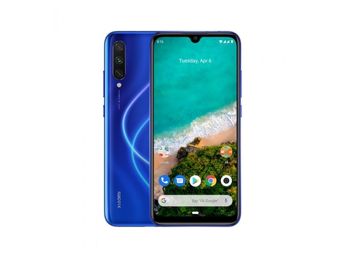Smartfon XIAOMI Mi A3 4/64GB Blue Bluetooth WiFi GPS DualSIM 64GB Android One kolor niebieski Blue
