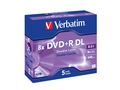 DVD+R Verbatim 43541 (8,5GB+ 8x+ 5szt.+ Slim Case)