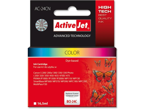 Activejet tusz Canon BCI-24 Col - AC-24CN (AC-24C)