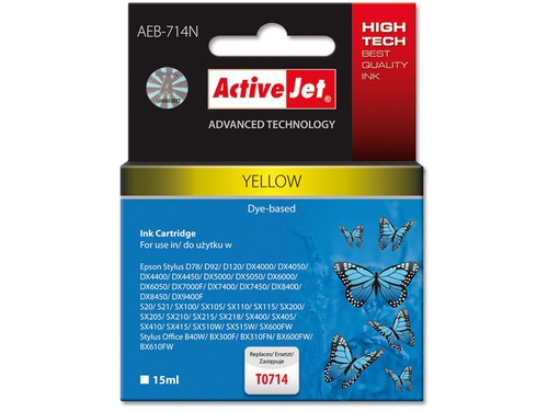 Activejet tusz Eps T0714 Yellow D78/DX4000/DX 6000 AEB-714