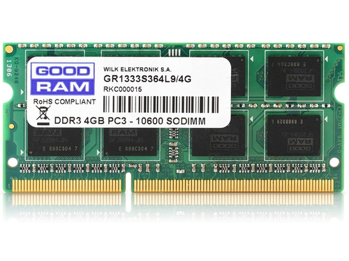 Pamięć Goodram SO-DIMM DDR3 4096MB PC1600 CL11 - GR1600S364L11S/4G