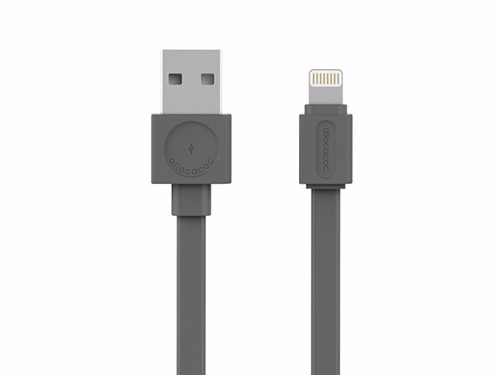 Allocacoc Kabel USBcable Lightning Flat - Szary - 10451GY/LGHTBC