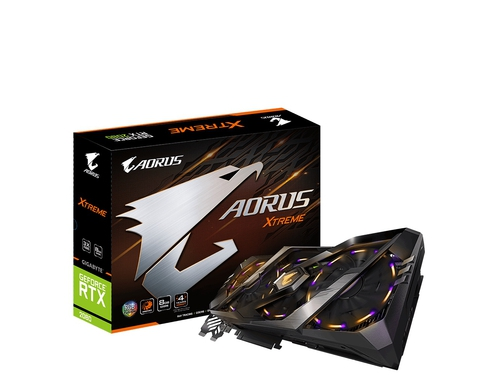Karta graficzna Gigabyte GeForce RTX 2080 Geforce GV-N2080AORUS X-8GC HDCP Support 8GB GDDR6 14000 MHz 256-bit
