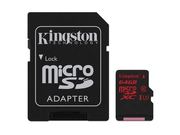 KINGSTON MICRO CANVAS REACT UHS-I SDCR/64GB+ADAPT