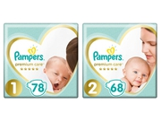 Pampers pieluchy PC 1 Newborn 78szt + 2 Mini 68szt