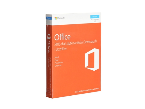 Oprogramowanie biurowe Microsoft Office Home and Student 2016 Win PL EuroZone MLK P2 - 79G-04609