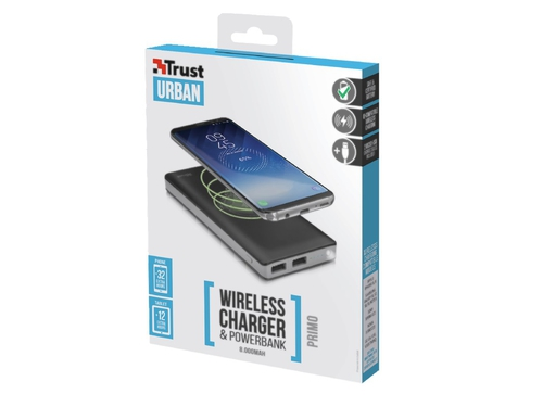 Power Bank Trust Primo Wireless 22823 8000mAh microUSB USB 2.0