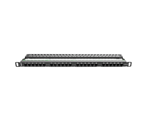 Lanberg patch panel 24 port 0.5u kat.5e utp czarny ppu5-0024-b - PPU5-0024-B