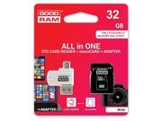 GOODRAM ALL IN ONE microSDHC 32GB Class 10+Czyt.kar - M1A4-0320R12