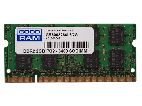 Pamięć Goodram SO-DIMM DDR2 2048MB PC800 CL6 - GR800S264L6/2G