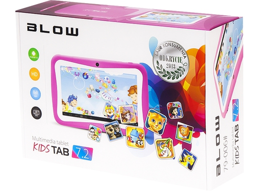 "Tablet BLOW KidsTab 7.2 79-006# 7,0"" 1GB 8GB WiFi kolor różowy"