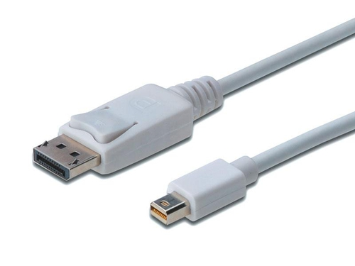 Kabel video Assmann AK-340102-010-W DisplayPort Mini DisplayPort 1m kolor biały
