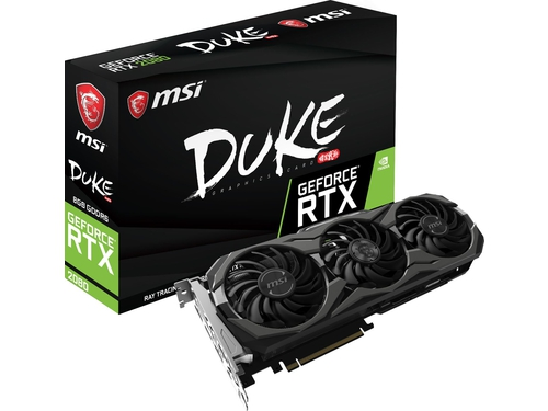 Karta graficzna MSI GeForce RTX 2080 GeForce RTX 2080 DUKE 8G OC 8GB GDDR6 14000 MHz 256-bit